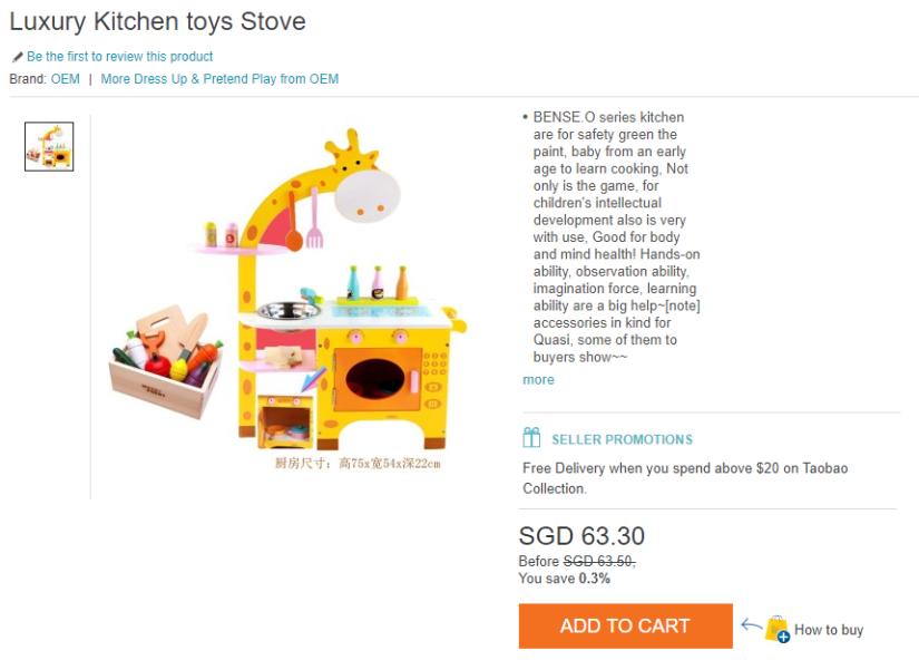 Luxury Kitchen toys stove
