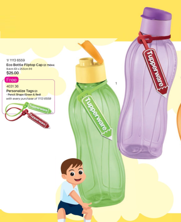 Tupperware kids eco bottle 1