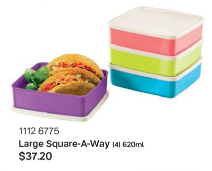Tupperware kids lunch box 4pc set